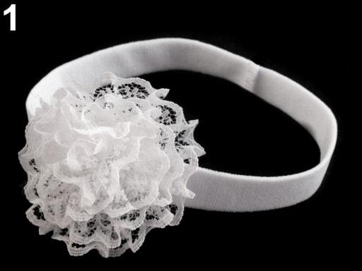 Dětská elastická čelenka s květem 51189da030