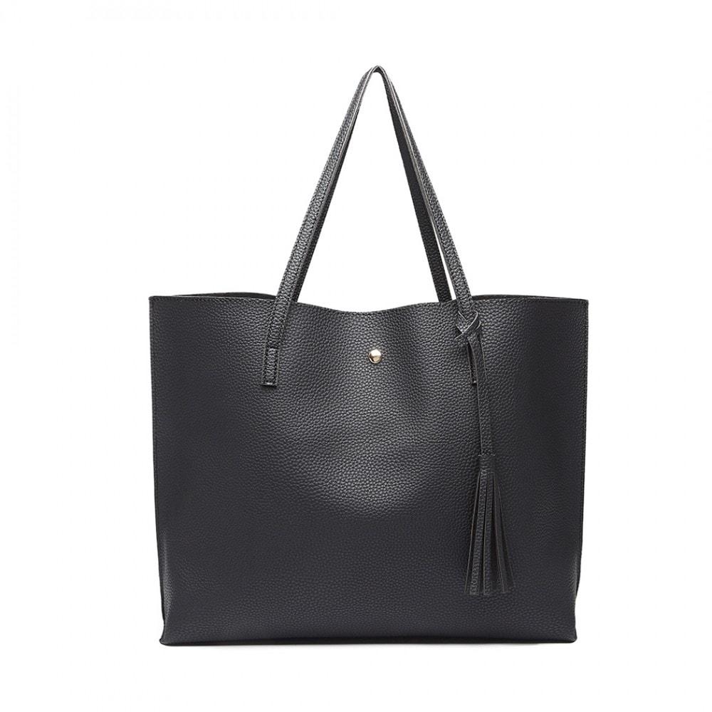 Dámská černá kabelka pro formáty A4 Miss Lulu ... f824ed6fcaf