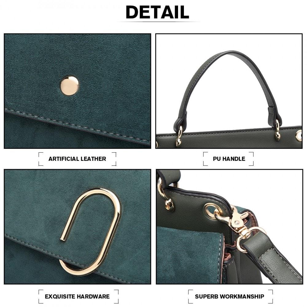 ... Originální zelená menší dámská kabelka Miss Lulu 3aa581437bd