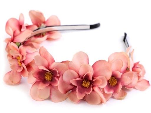 Kovová čelenka s květy Fimo  9d188d079c