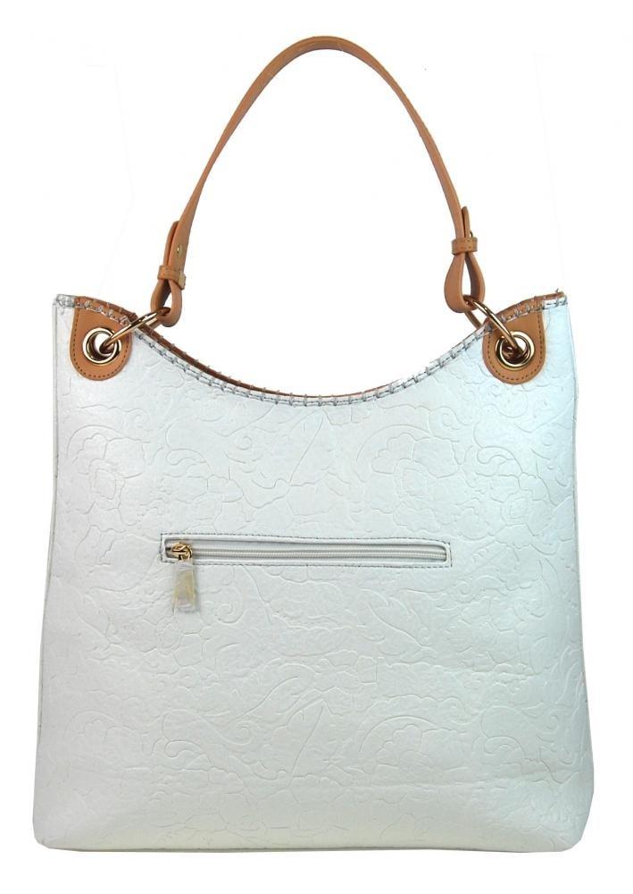 ... Moderní velká bílá kabelka s potiskem květin 4257-TS ... 0a04afd3fbd