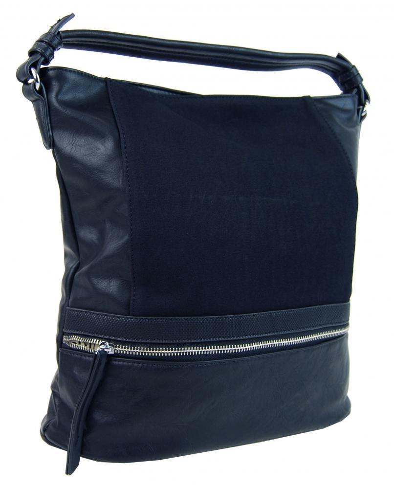 7c3fd15724 Moderní modrá dámská kombinovaná kabelka NH6058