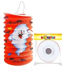 Lampion s duchem Halloween 15 cm