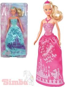 Panenka Steffi Love princezna 29cm třpytivé šaty 2 druhy f80c300326
