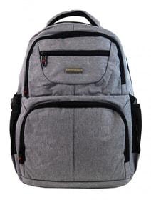 New Berry Elegantní polstrovaný školní batoh L18105 světle šedý 4fa29a2e2c