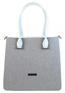 Luxusní šedá kabelka v bílém korpusu S658 baa5bbbf367