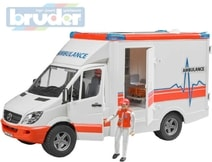 Auto sanitka Mercedes Benz Sprinter set s figurkou model 1:16