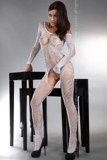 Bodystocking Abra white