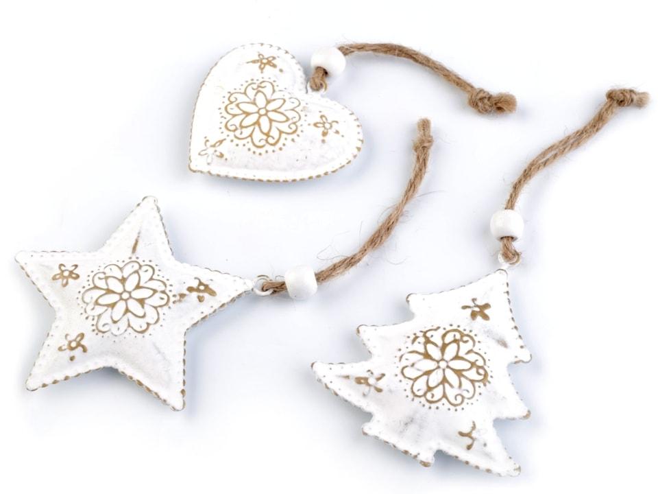 Vánoční kovová dekorace - srdce 32f3b3dd0f