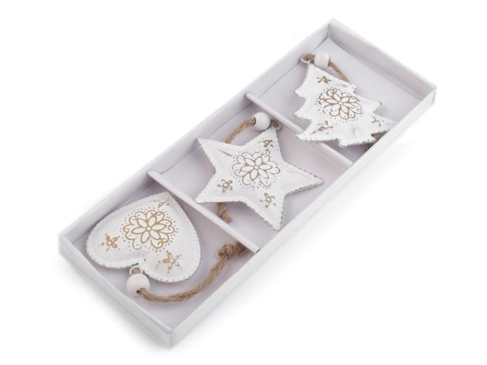 ... Vánoční kovová dekorace - srdce b9de63bb9b