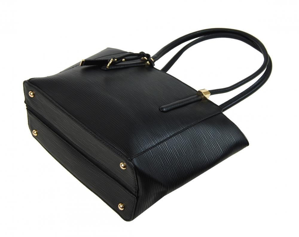 48eb5cf062 ... Elegantní kabelka na rameno se zlatými doplňky 2017-BB černá ...