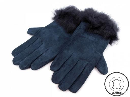 Dámské kožené rukavice s kožešinou Zvětšit. Previous  Next 6914ec5321