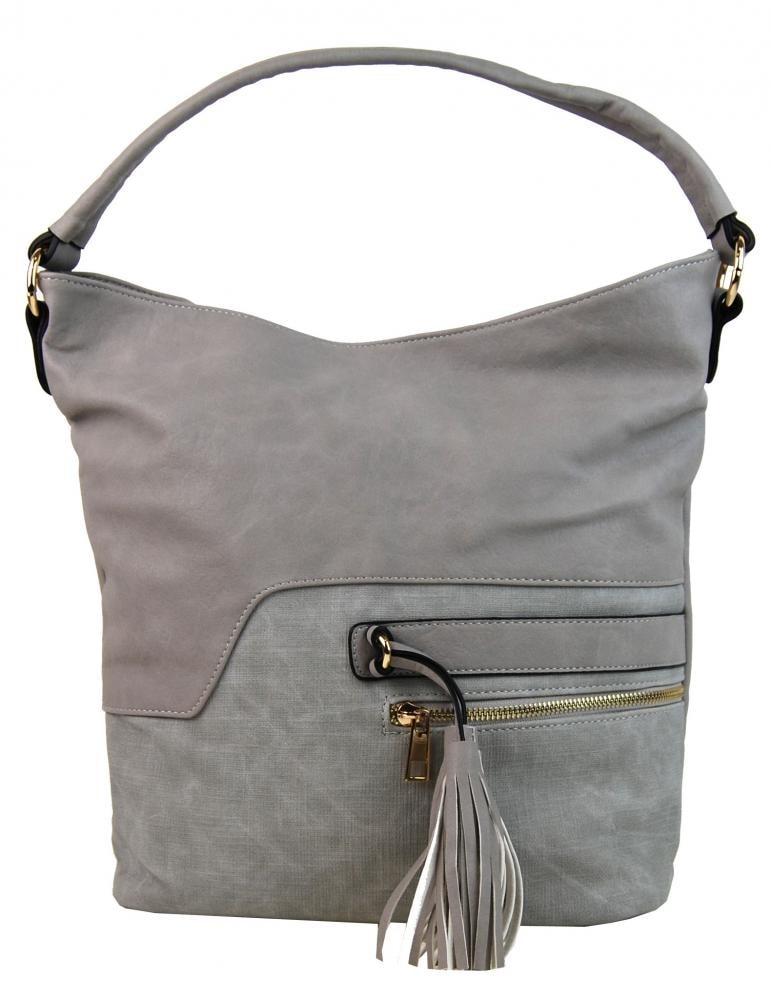 Elegantní kombinovaná dámská crossbody kabelka F1349 šedá ... 7445c2e53f2