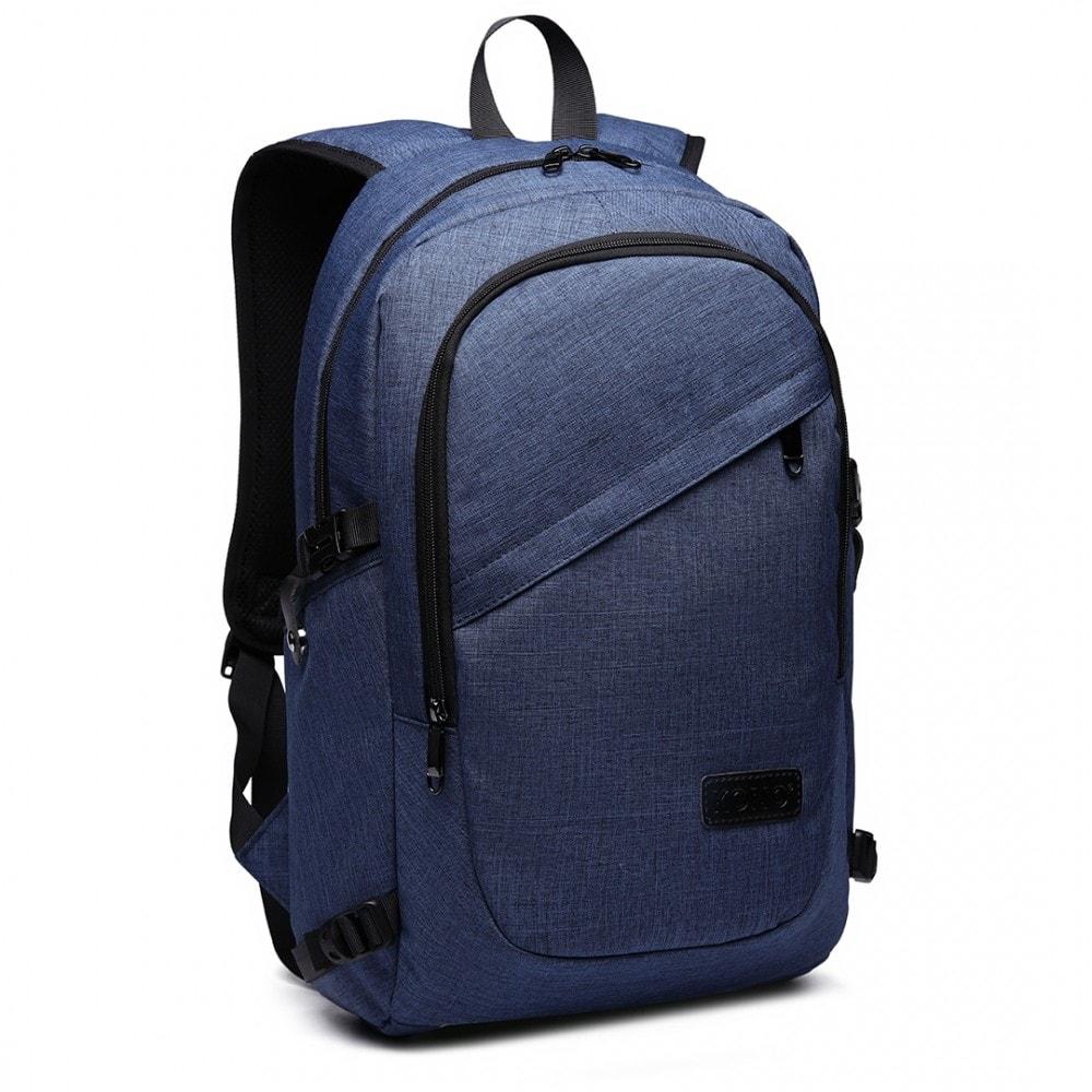 ... KONO modrý moderní elegantní batoh s USB portem UNISEX ... ac9b39af1e