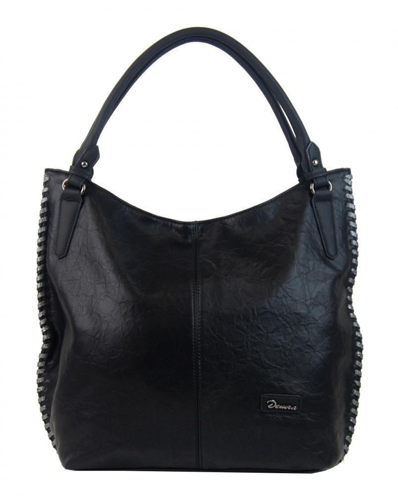 Moderní černá dámská kabelka přes rameno 3796-DE ... f24a92e9af8