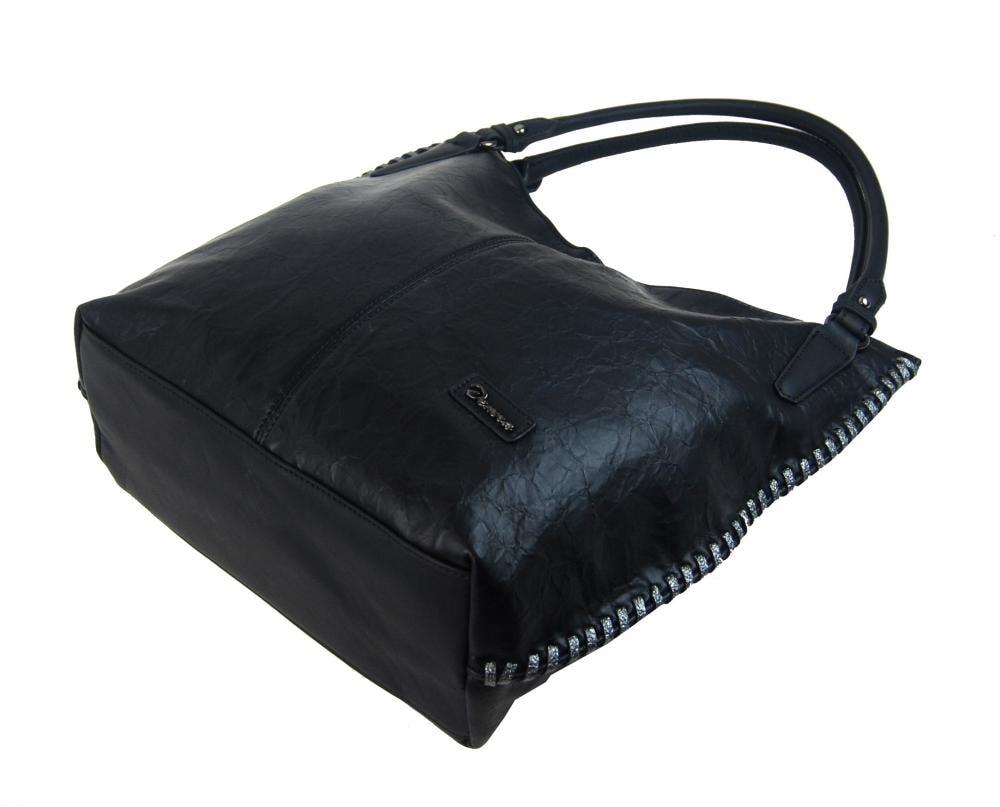 ... Moderní černá dámská kabelka přes rameno 3796-DE ... 317ac9d0496