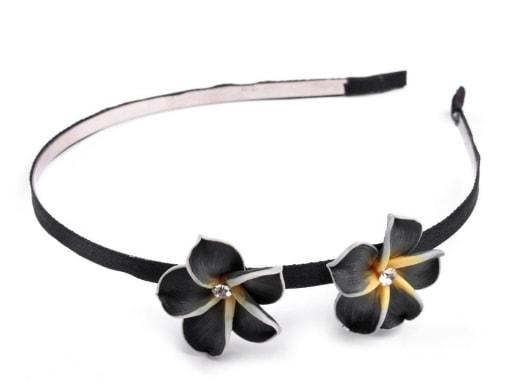 Kovová čelenka s květy Fimo ... df40d6138f