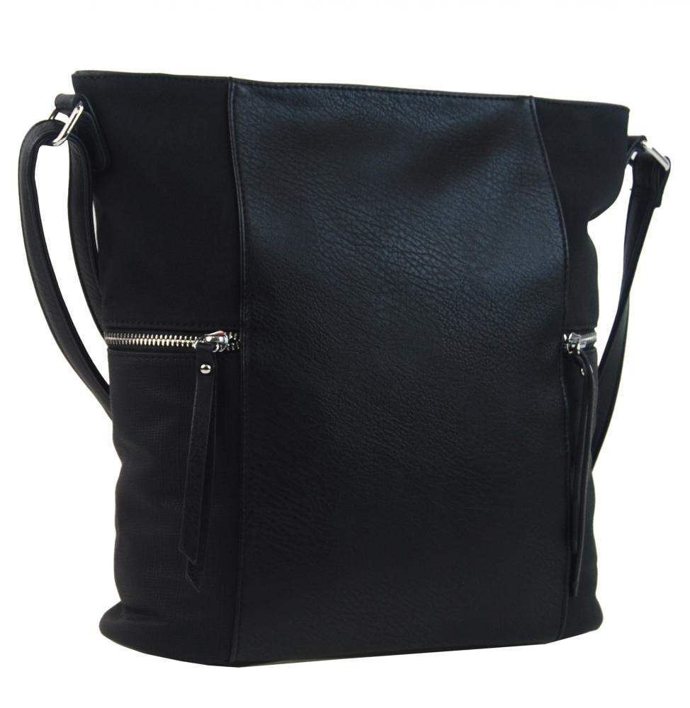 Černá dámská crossbody kabelka s bočními kapsami AE-9025 ... a2bdeafa993