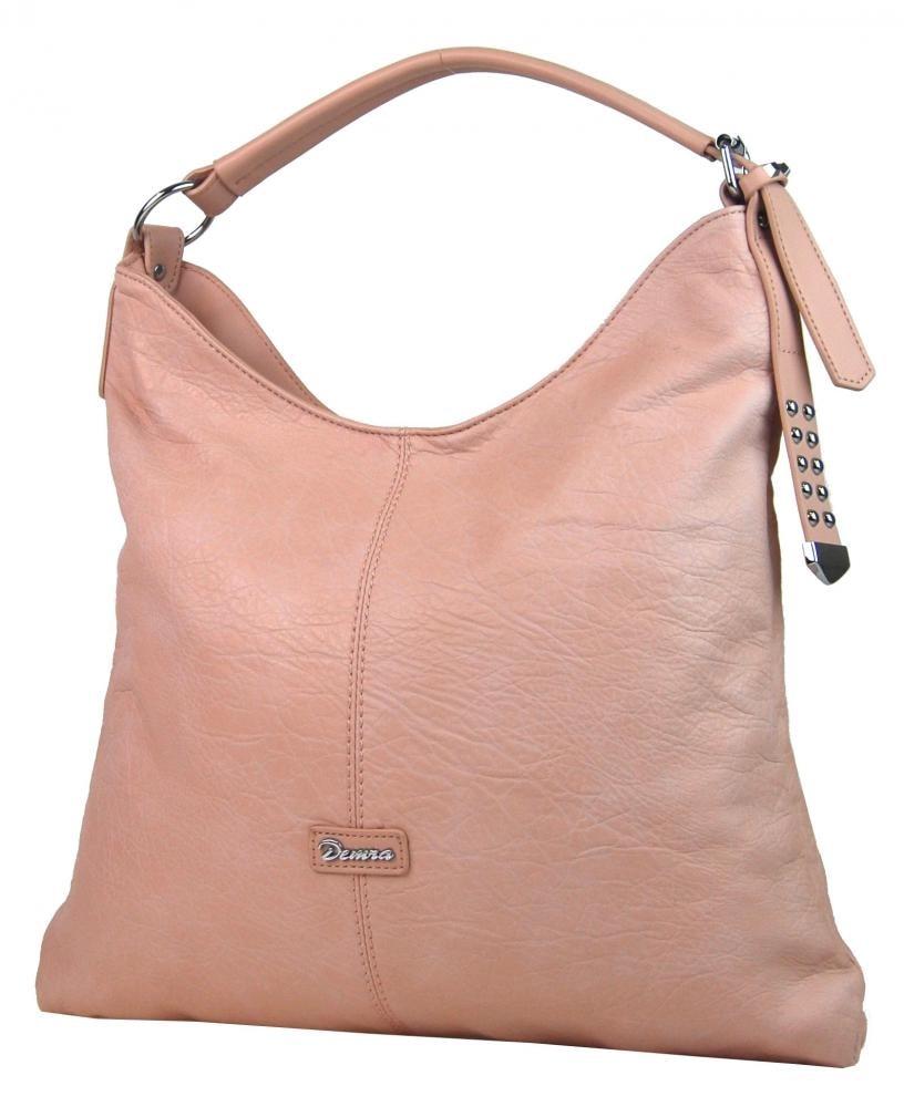 Moderní velká růžová kombinovaná dámská kabelka 3753-DE ... c880ccf9132
