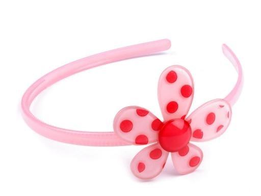 Plastová čelenka s květem  f0c75d3263